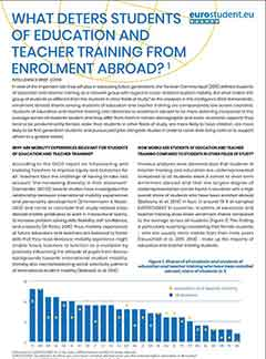 What deters students of education and teacher training from enrolment abroad?