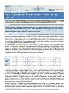 The structure of public student support in Europe
