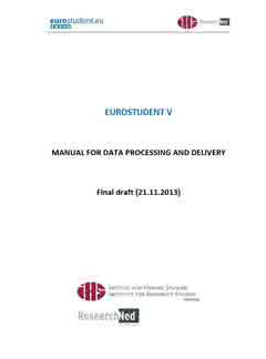 EUROSTUDENT V Manual for data processing and delivery