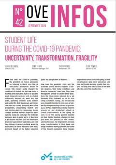 OVE Infos n°42 | Student life during the COVID-19 pandemic - OVE : Observatoire de la vie Étudiante