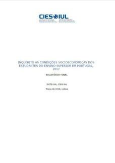 Inquérito às condições socioeconómicas dos estudiantes do ensino superior em Portugal, 2017