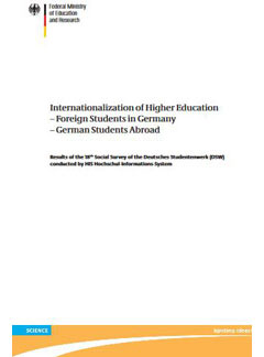 Internationalization of higher education -Foreign students in Germany - German students abroad