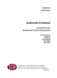 Studierende im Doktorat Zusatzbericht der Studierenden-Sozialerhebung 2015