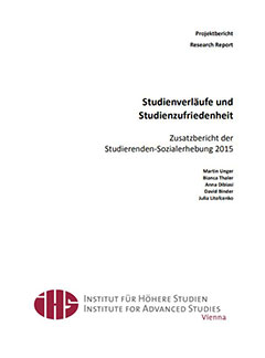 Studienverläufe und Studienzufriedenheit. Zusatzbericht der Studierenden-Sozialerhebung 2015