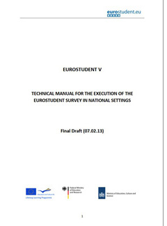Technical manual for the execution of the EUROSTUDENT survey in national settings
