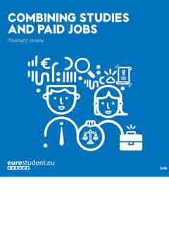 Thematic review. Combining studies and paid jobs