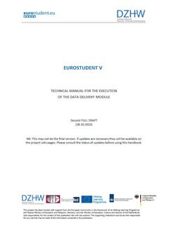 EUROSTUDENT V Technical manual for the execution of the Data Delivery Module