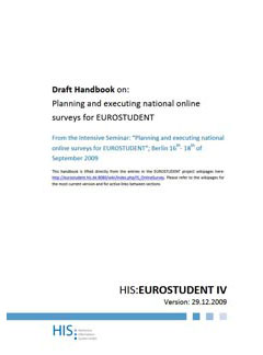 EUROSTUDENT IV Handbook on planning and executing national online surveys