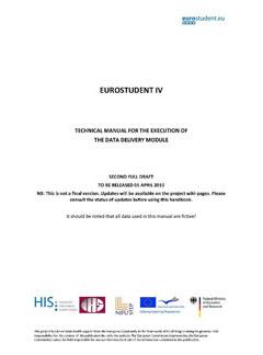EUROSTUDENT IV Data delivery handbook