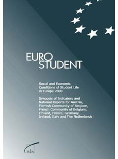 EUROSTUDENT.  Social and Economic Conditions of Student Life in Europe 2000