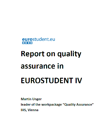 Report on quality assurance in EUROSTUDENT IV