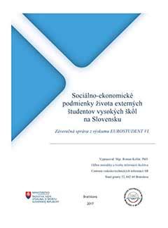 Sociálno-ekonomické podmienky ¸ivota externých ¨tudentov vysokých ¨kôl na Slovensku