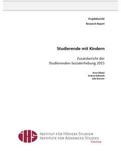 Studierenden - Sozialerhebung 2011.  Bericht zur sozialen Lage der Studierenden in Österreich im Auftrag des BMWF