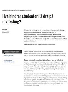 Hva hindrer studenter i å dra på utveksling?